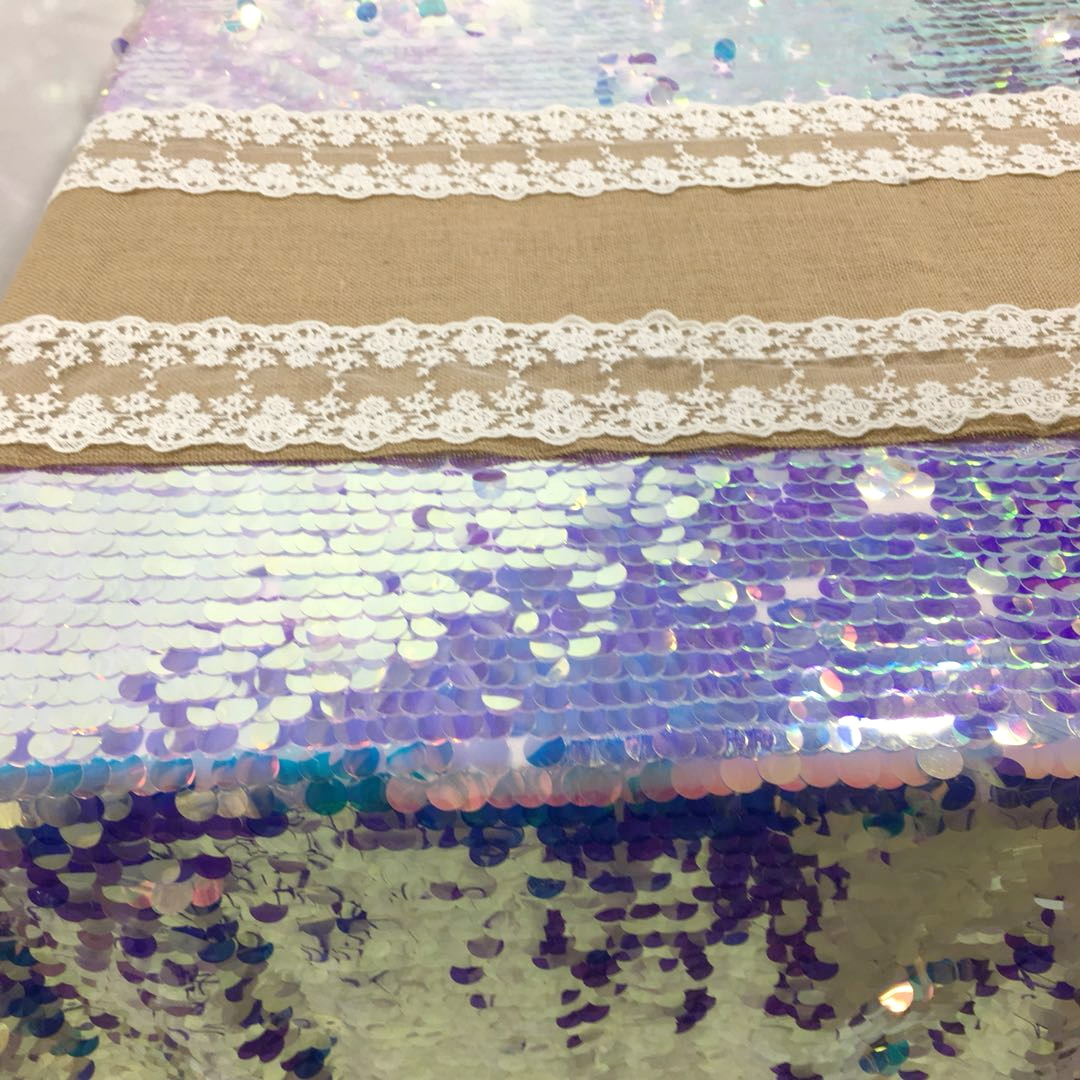 Sequin Table CLoth and Jute Runner