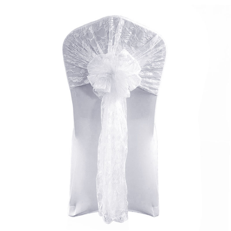 Lace Chair Cover Hoods Caps