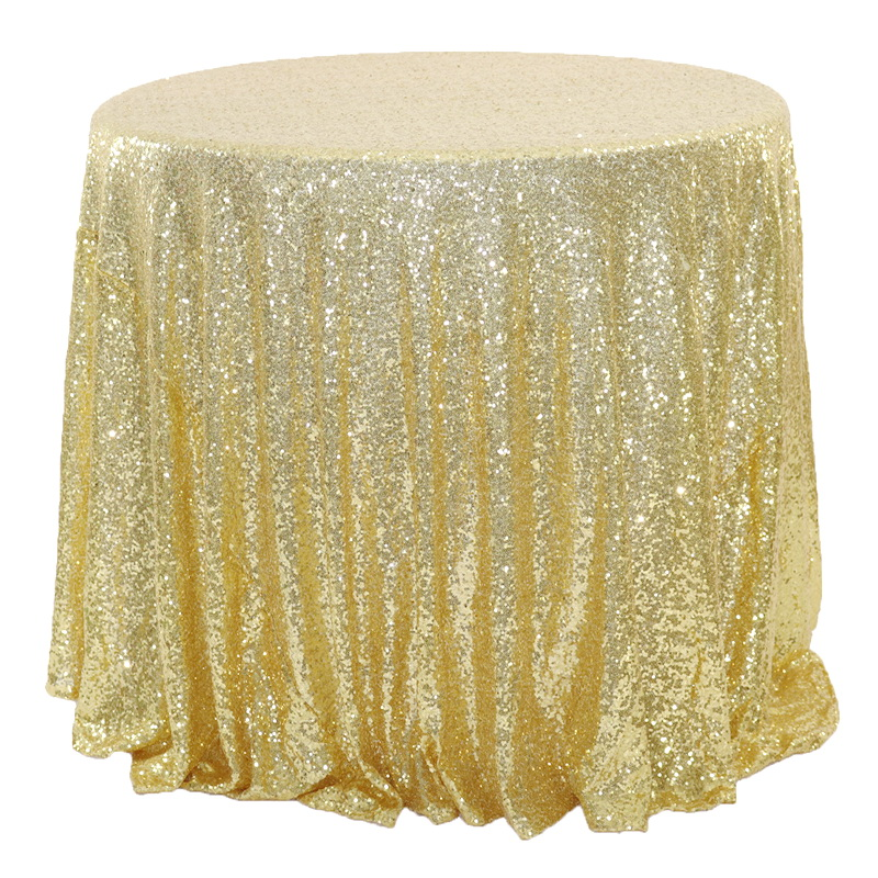 Round Gold Sequin Table Cloth Sparkly Wedding Tablecloth Sequin Table Decor