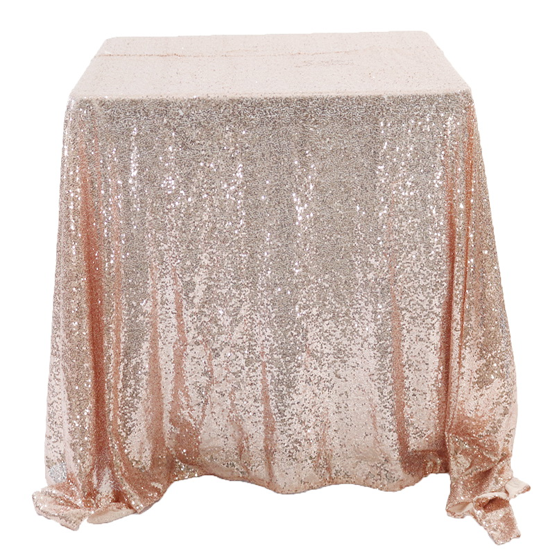Rose Gold Sequin Table Cloth for Wedding party Banquet Decor
